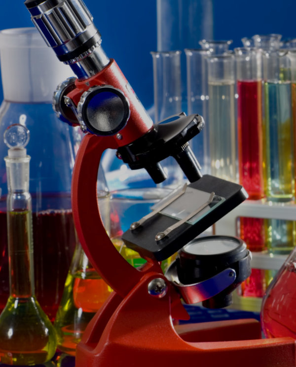laboratory ware and microscope